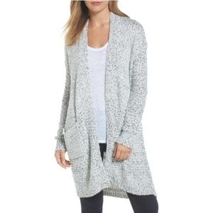 Caslon Mixed Stitch Long Cardigan (Petite)